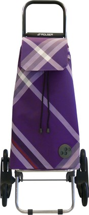 Сумка-тележка хозяйственная фиолетовая Rolser RD6 MOUNTAIN MOU075more