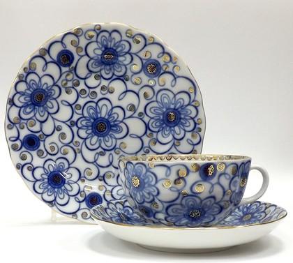 Набор чайный 3 предмета Вьюнок, ф. Тюльпан ИФЗ 81.11210.00.1