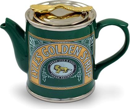 """Чайник заварочный """"Сироп"""" (банка Lyle's Golden Syrup, ложка на крышке) The Teapottery 4459"""