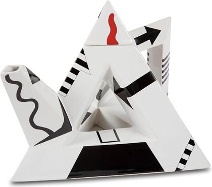 """Чайник заварочный """"Чайная иллюзия"""" (треугольник, пустой внутри) The Teapottery 4420"""