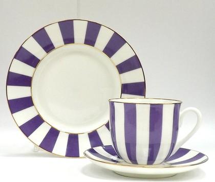 Набор чайный 3пр. «Да и нет», фиолетовый, ф. Ландыш ИФЗ 81.23058.00.1