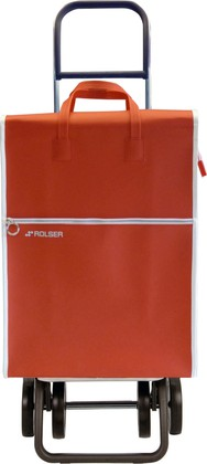 Сумка-тележка хозяйственная красная Rolser DOS+2 LID002rojo