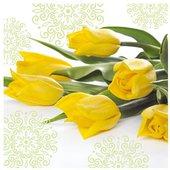 Салфетки Желтые тюльпаны, 33x33, 20шт Paw SDL290000