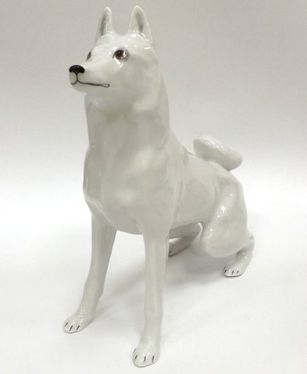 Скульптура Лайка, фарфор ИФЗ 82.05294.00.1