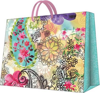"""Пакет подарочный """"Цветочный микс"""" 25x20x10см Paw AGB003118"""