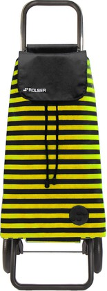 Сумка-тележка хозяйственная чёрная с жёлтым Rolser LOGIC RG PAC040negro/lima