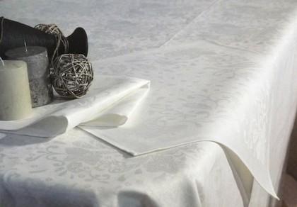 """Скатерть """"Катюша"""" 150x175см + 6 салфеток 50x50см белая Белорусский лён 10c229/150x175/86/0"""