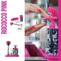 Дозатор моющего средства с щёткой для посуды и губкой на подставке Vigar Rococco pink 7167