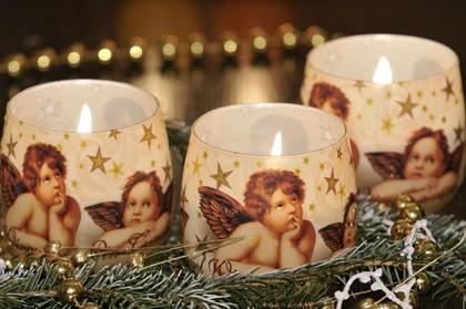 """Свеча """"Рафаэль"""" стакан 8х7cм Bartek Candles 160061"""