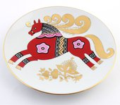 Тарелка декоративная Красный конь, ф. Эллипс ИФЗ 80.58700.00.1