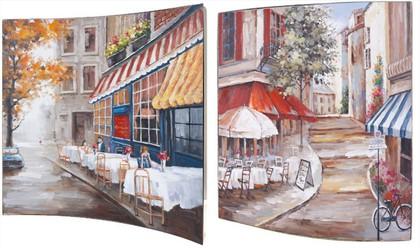 Картина Городское кафе 38x38см, пара Top Art Studio WDP1762-TA