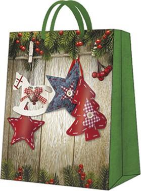 """Пакет подарочный """"Новогодние звездочки"""" 26.5x33.5x13см Paw AGB028305"""