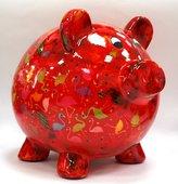 Копилка Свинья BIG PEGGY XL красная с фламинго Pomme-Pidou 148-00026/2