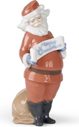 Статуэтка фарфоровая Пожелания Санта Клауса (Santa's Best Wishes) 22см NAO 02001399