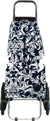 Сумка-тележка хозяйственная чёрная с белым Rolser RD6 MOUNTAIN MOU113blanco/negro