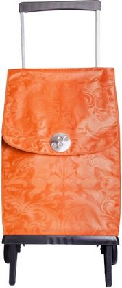 Сумка-тележка хозяйственная оранжевая Rolser PLEGAMATIC ORBITA PLE055mandarina