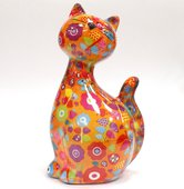 Копилка Кошка CARAMEL оранжевая с цветочками Pomme-Pidou 148-00029/6