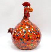 Копилка Курица BIG MARIE красная с птичками Pomme-Pidou 148-00125/3