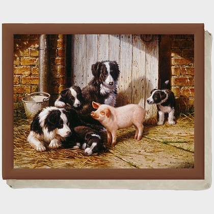 "Creative Tops - Piggy in The Middle - Поднос с подушкой ""Друзья"", 43,8x33,8см, артикул LT1955"