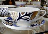 Чашка с блюдцем Синий узор, ф. Купольная ИФЗ 81.22161.00.1