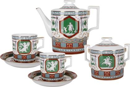 Сервиз чайный 6/14 Античный, ф. Гербовая ИФЗ 81.24412.00.1