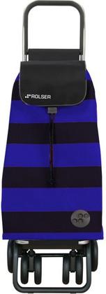 Сумка-тележка хозяйственная сине-чёрная Rolser LOGIC TOUR PAC045azul/negro