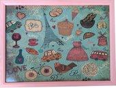 """Поднос с подушкой """"Любимый Париж"""" 41x31см Top Art Studio HSN1287-TA"""