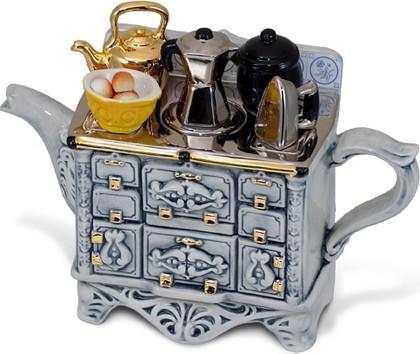 """Чайник заварочный """"Французский завтрак"""" (стол, утюг, кофейник, миска с пирожками) The Teapottery 4426"""