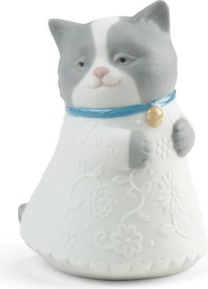 Статуэтка фарфоровая Котёнок (голубой) (Little Kitty (blue)) 9см NAO 02005079