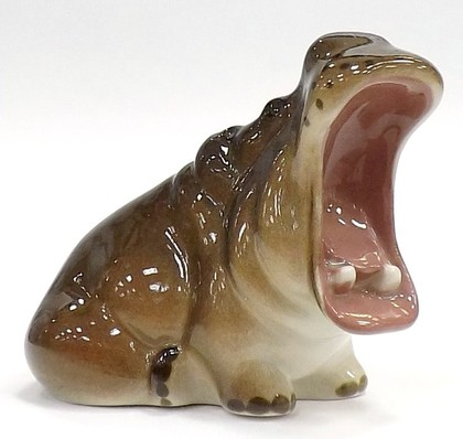 Скульптура Гиппопотам, фарфор ИФЗ 82.02753.00.1