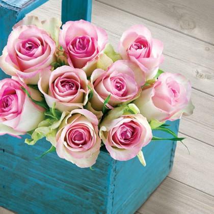 Салфетки для декупажа Корзинка с розами, 33x33см, 3 слоя, 20шт Paw SDL861000