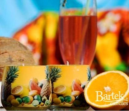 "Bartek Candles FRUITS Свеча ""Спелые фрукты"", стакан 80х75мм, артикул 5907602614824"