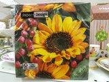Салфетки для декупажа Осеннее поздравление, 33x33см, 3 слоя, 20шт Paper+Design 22011