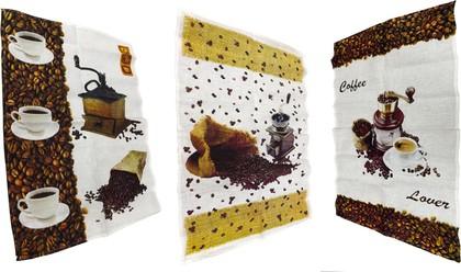 """Набор льняных полотенец """"Кофе"""" 3шт. 50x70см Белорусский лён 10С650"""