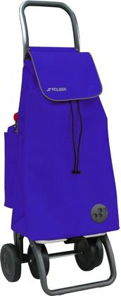 Термосумка-тележка хозяйственная складная синяя Rolser LOGIC DOS+2 THERMO PAC018azul