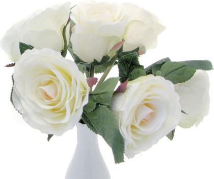 Цветок искусственный Букет роз белый Top Art Studio HAF0342-TA