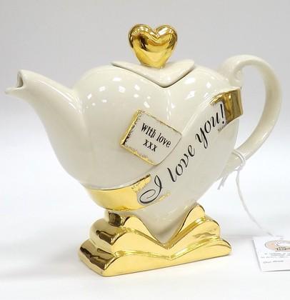 Чайник коллекционный «Горячее сердце» (Heart Teapot «My heart is yours») The Teapottery 4433