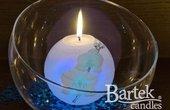 """Свеча """"Орхидея"""", шар с подсветкой Bartek Candles 186041"""