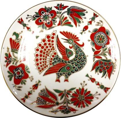 Тарелка декоративная Красная птица, ф. Эллипс ИФЗ 80.02428.00.1