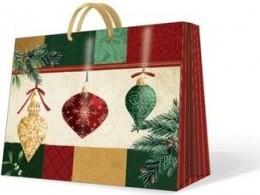 """Пакет подарочный """"Новогодняя роскошь"""" горизонтальный, 25х10х20см Paw AGB000118"""