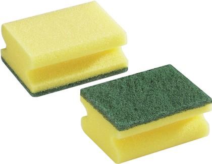 Губка средней жёсткости для чистки разных поверхностей, 2шт. Leifheit 40015