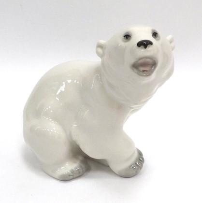 Скульптура Медвежонок белый 11.6см, фарфор ИФЗ 82.00976.00.1