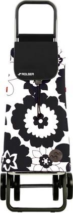 Сумка-тележка хозяйственная бело-чёрная Rolser LOGIC DOS+2 PAC007blanco/negro
