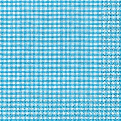 Салфетки для декупажа Синяя клетка, 33x33см, 3 слоя, 20шт Paper+Design 21063