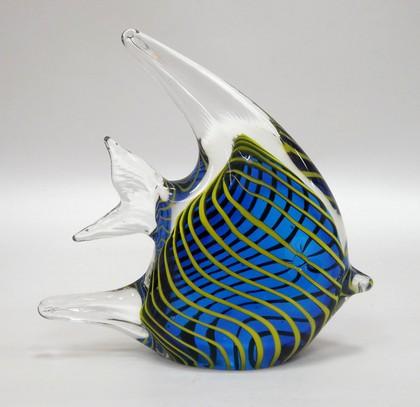 Фигурка стеклянная Полосатая скалярия 12x13см Top Art Studio ZB1523-TA