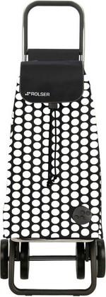 Сумка-тележка хозяйственная бело-чёрная Rolser LOGIC DOS+2 PAC006blanco/negro