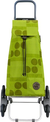 Сумка-тележка хозяйственная зелёный лайм Rolser RD6 MOUNTAIN MOU041lima