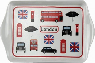 Поднос Лондон коллаж 21x14см Leonardo Collection LP92170