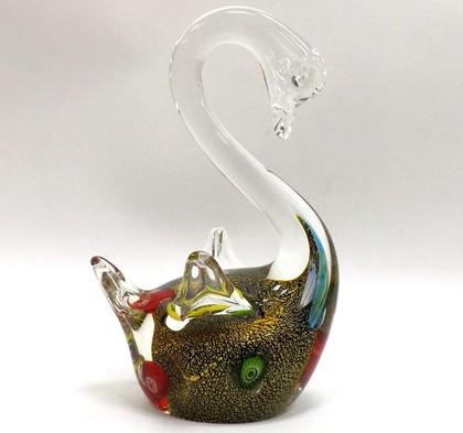 Фигурка стеклянная Серебряный лебедь 9.5x16см Top Art Studio ZB1529-TA