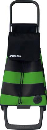 Сумка-тележка хозяйственная черно-зеленая ROLSER Joy-1800 BAB003verde/negro